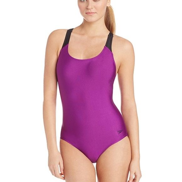 df129613a85 Speedo Swim | Powerflex One Piece In Vivid Violet Nwt | Poshmark